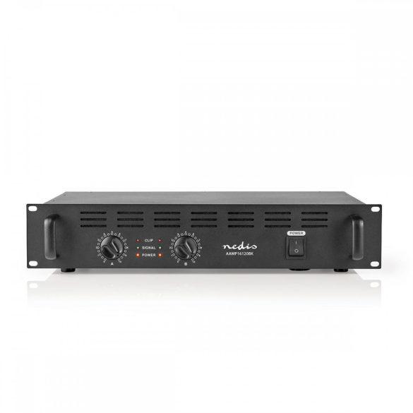 Nedis AAMP16120BK Végerősítő (2 x 300 Watt)