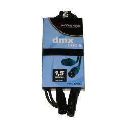 Accu-Cable 1621000007 DMX jelkábel 3 pólusú 1,5m