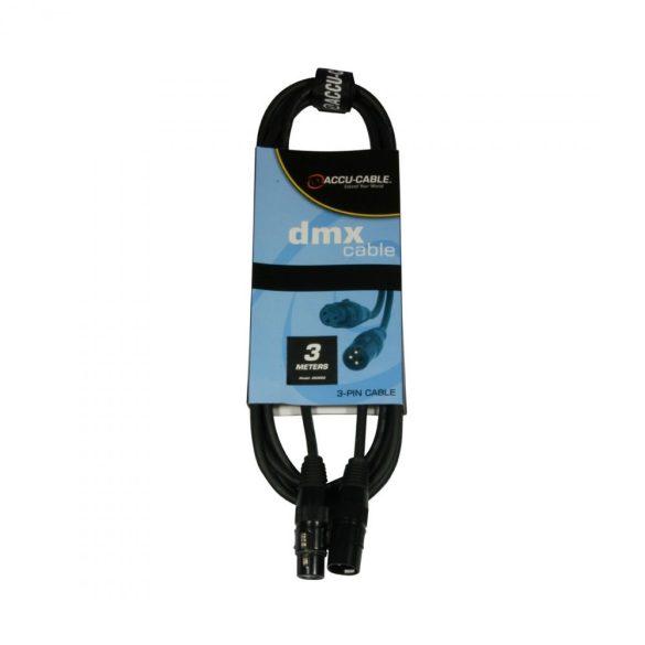 Accu-Cable 1621000008 DMX jelkábel 3 pólusú 3m