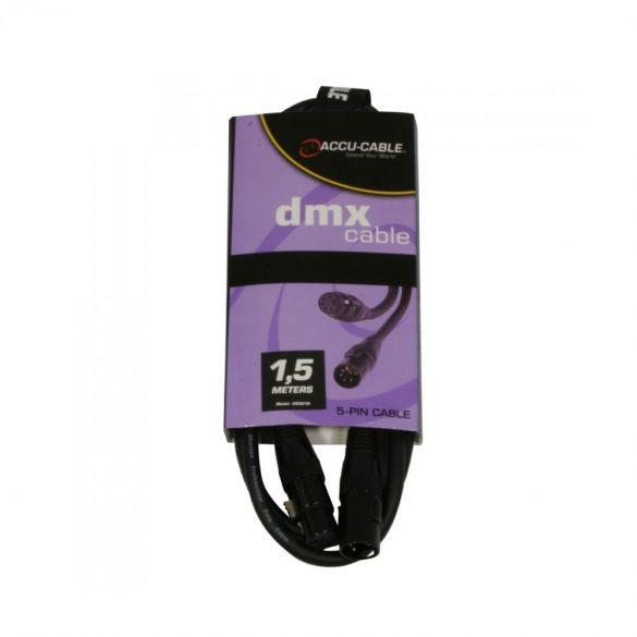 Accu-Cable 1621000014 DMX jelkábel 5 pólusú 1,5m