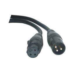 Accu-Cable 1621000018 DMX jelkábel 3 pólusú 0,5m