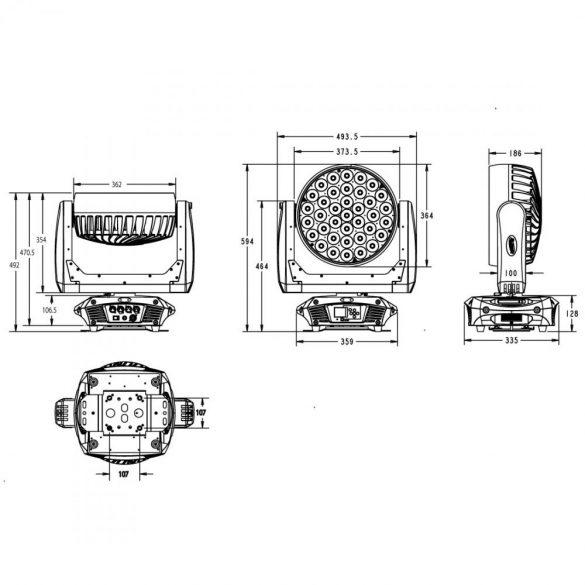 Elation Platinum Wash ZFX ProXL