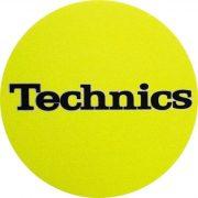 Slipmat Factory TECHNICS logo Yellow