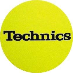 Slipmat Factory TECHNICS logo Yellow