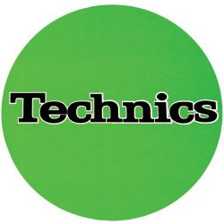 Slipmat Factory TECHNICS logo Green