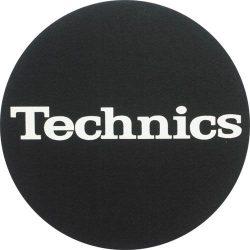 Slipmat Factory TECHNICS logo, fekete alapon fehér