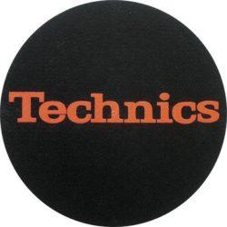 Slipmat Factory TECHNICS logo, fekete alapon piros