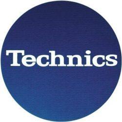 Slipmat Factory TECHNICS logo kék alapon fehér