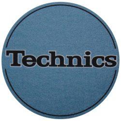Slipmat Factory TECHNICS logo metál kék alapon fekete