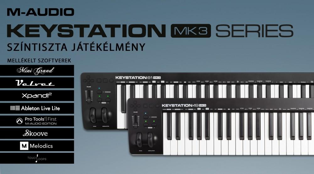 m audio keystation 61 mk3 dj store disco sound and lighting equipment store and webshop. Black Bedroom Furniture Sets. Home Design Ideas