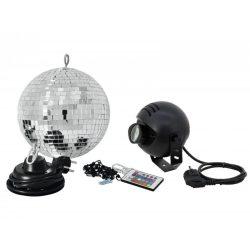 Eurolite 20cm tükörgömbszett RGB LED Spot