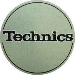 Slipmat Factory TECHNICS logo metál zöld alapon fekete