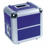 ROADINGER Record Case ALU 50/50, rounded, dark blue