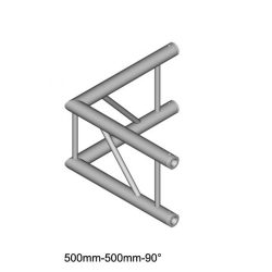 Duratruss DT 32 C21V-L90 90 degree Corner 50cm