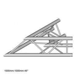 Duratruss DT 33 C19-L45  45 degree Corner 100cm