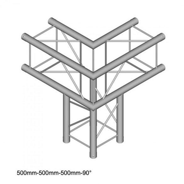 Duratruss DT 24 C30   90 degree corner + down 50cm