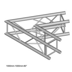 Duratruss DT 34 C20-L60   60 degree Corner 100cm