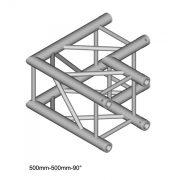 Duratruss DT 34 C21-L90  90 degree Corner 50cm