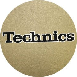 Slipmat Factory TECHNICS logo Gold