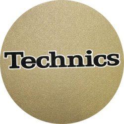 Slipmat Factory TECHNICS logo Gold