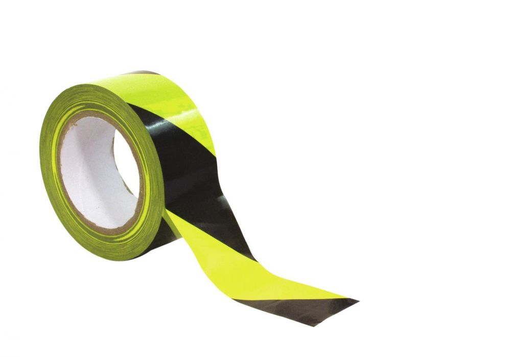 Image of Accessory Marking Tape PVC Sárga/Fekete 50mm / 33 m